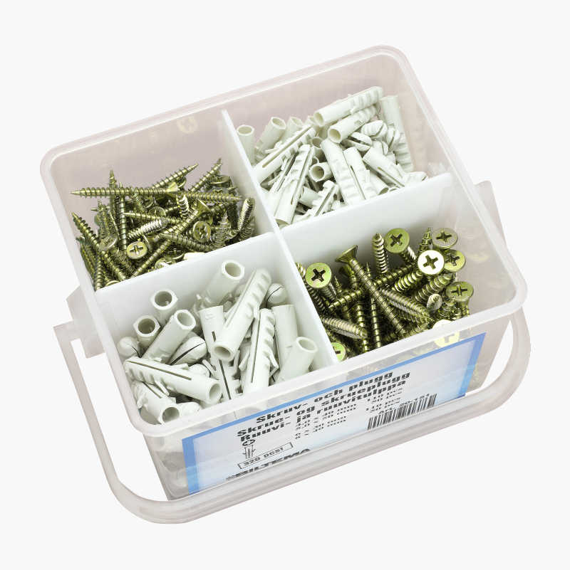 Screw and Plug Assortment, 320 pcs.