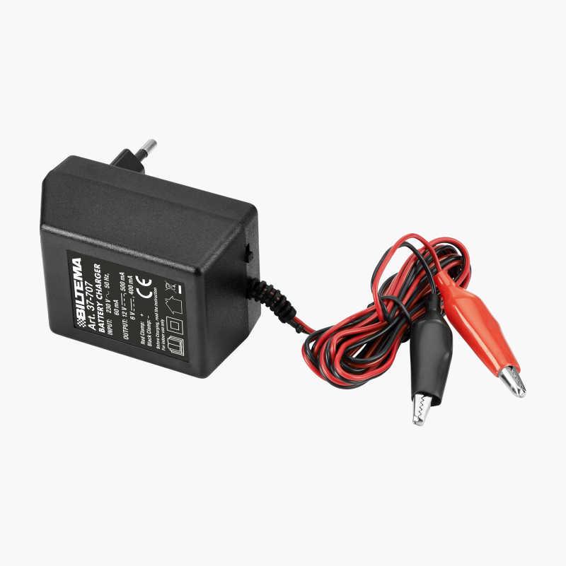 Batterioplader 6/12 V, 400/500 mA