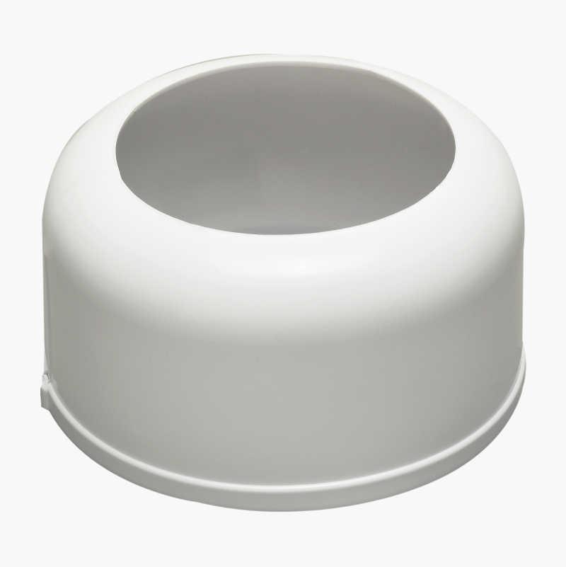 Floor hood for toilet