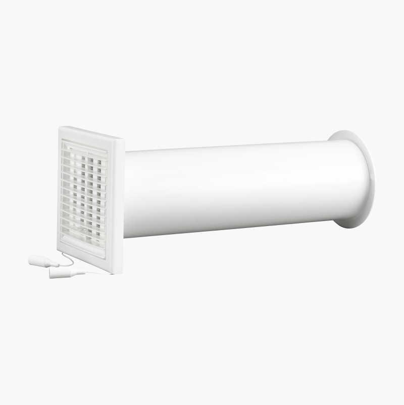 Wall ventilator, complete