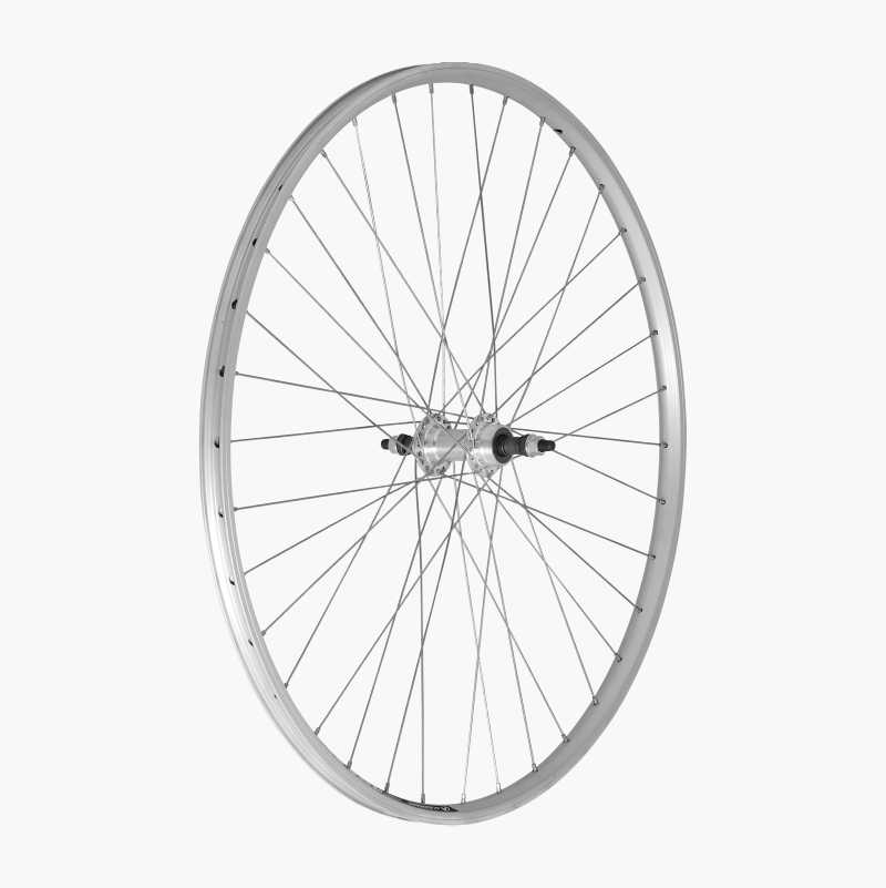 Rear wheel for screw-threaded free-wheels, 18–21 gears