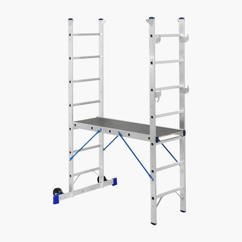 Work ladder with platform