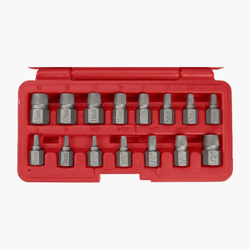 Screw Extractor Set, 15 parts
