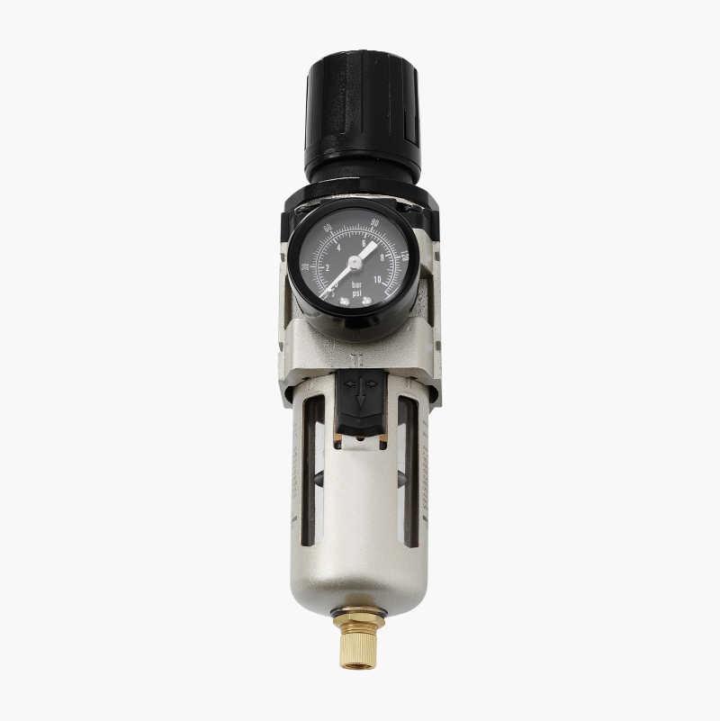 Pressure regulator with filter.