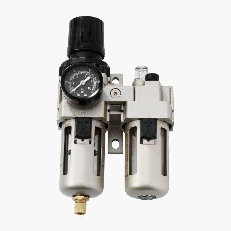 Tryckregulator med filter och dimsmörjare
