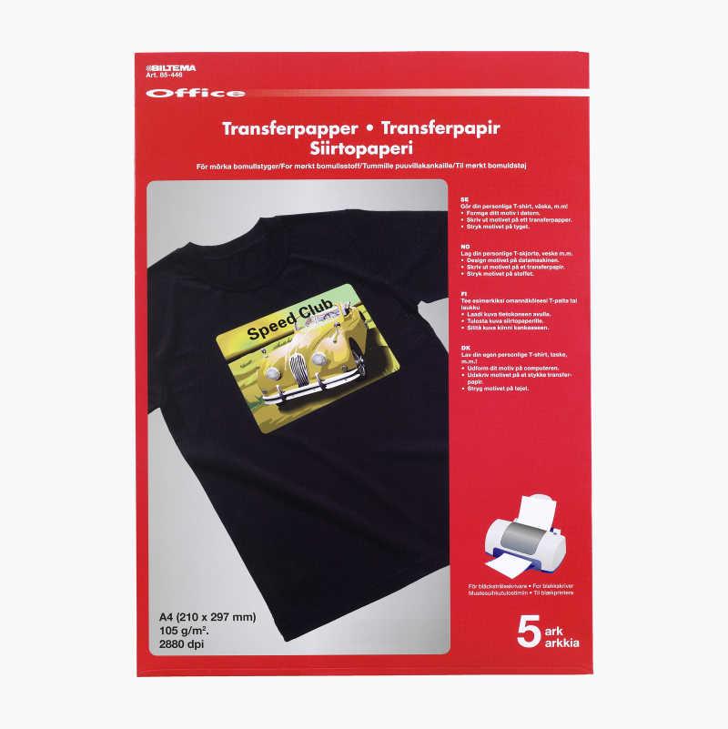 Transferpapper för mörka bomullstyger