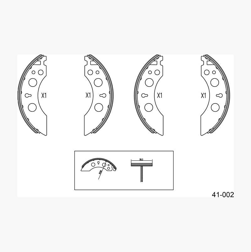BRAKE SHOE KIT TRAILER