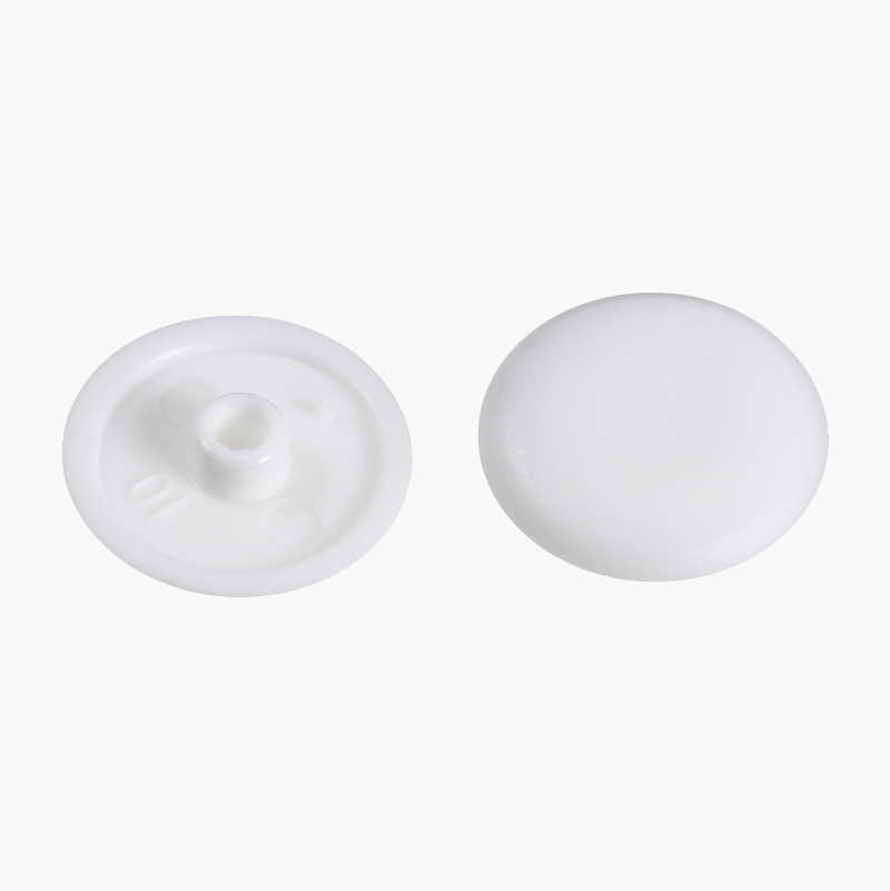 Furniture Cover Caps Ø 4 mm white, 10 pcs.