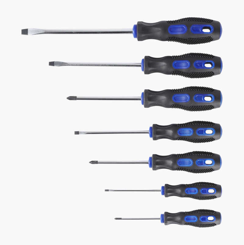 Screwdriver set, 7 pcs