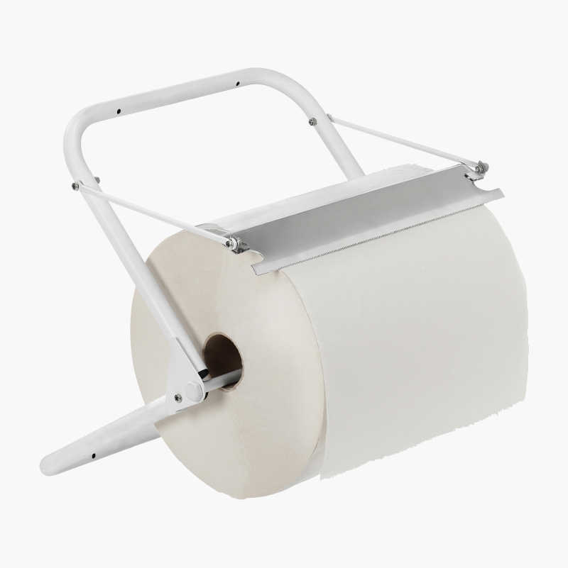 Paper roll holder, wall-mounted