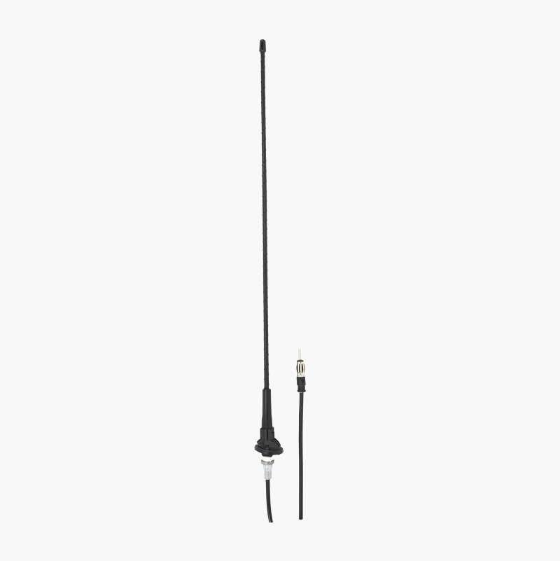 Antenne med rund fod
