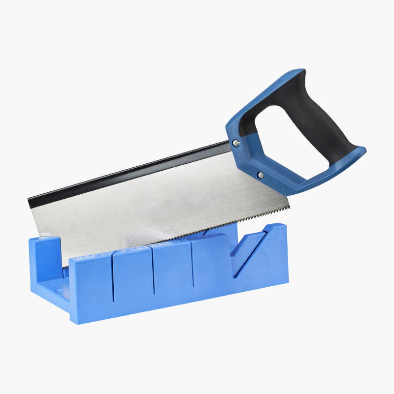 Mitring box with saw