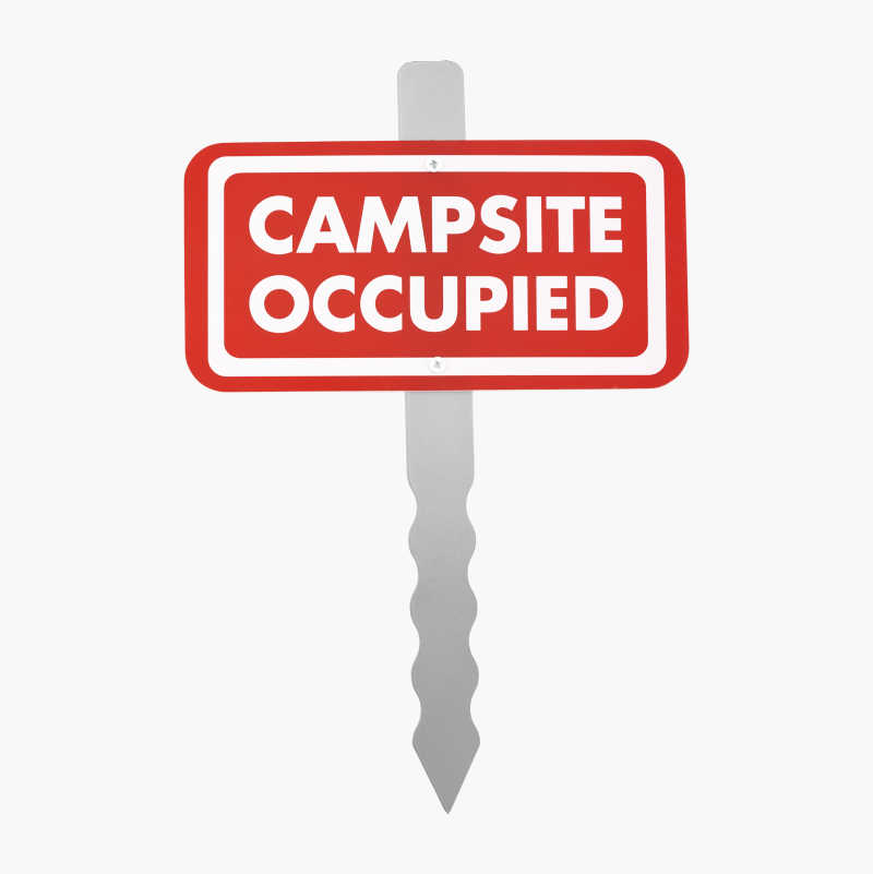 """""""Campsite Occupied"""" Sign"""