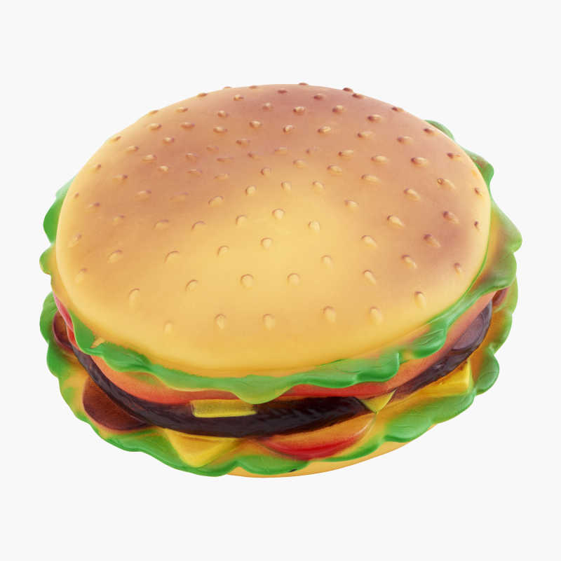 Hamburger Squeaky Toy