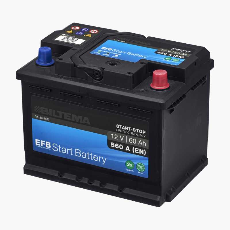 BATTERY EFB START 60 AH