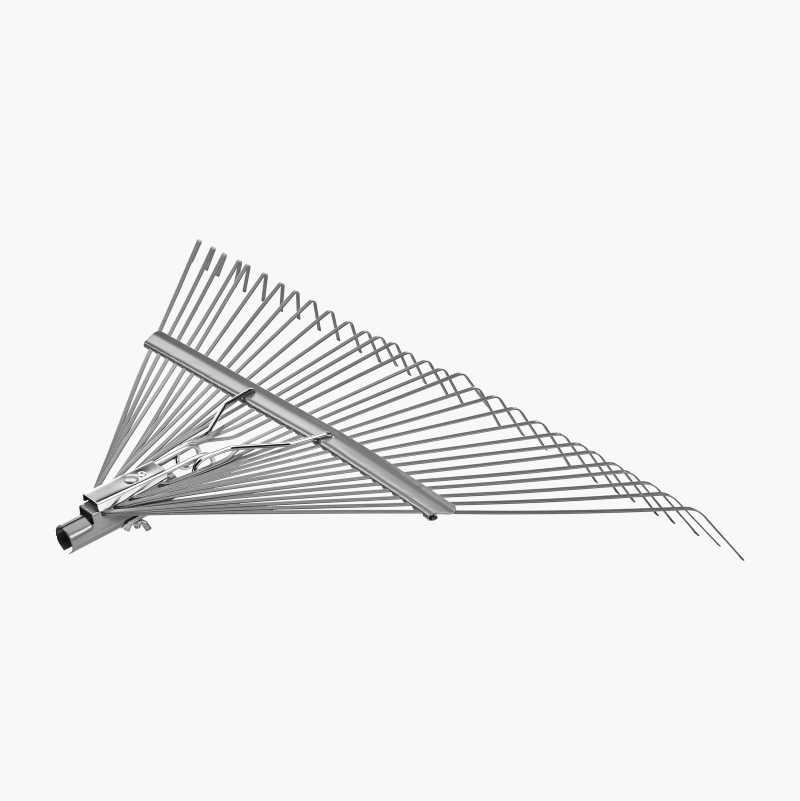 Leaf rake, 30-pronged