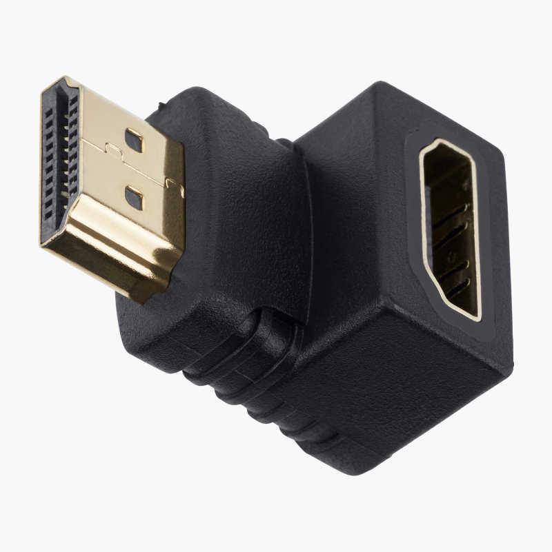 HDMI A-adapter, vinklet