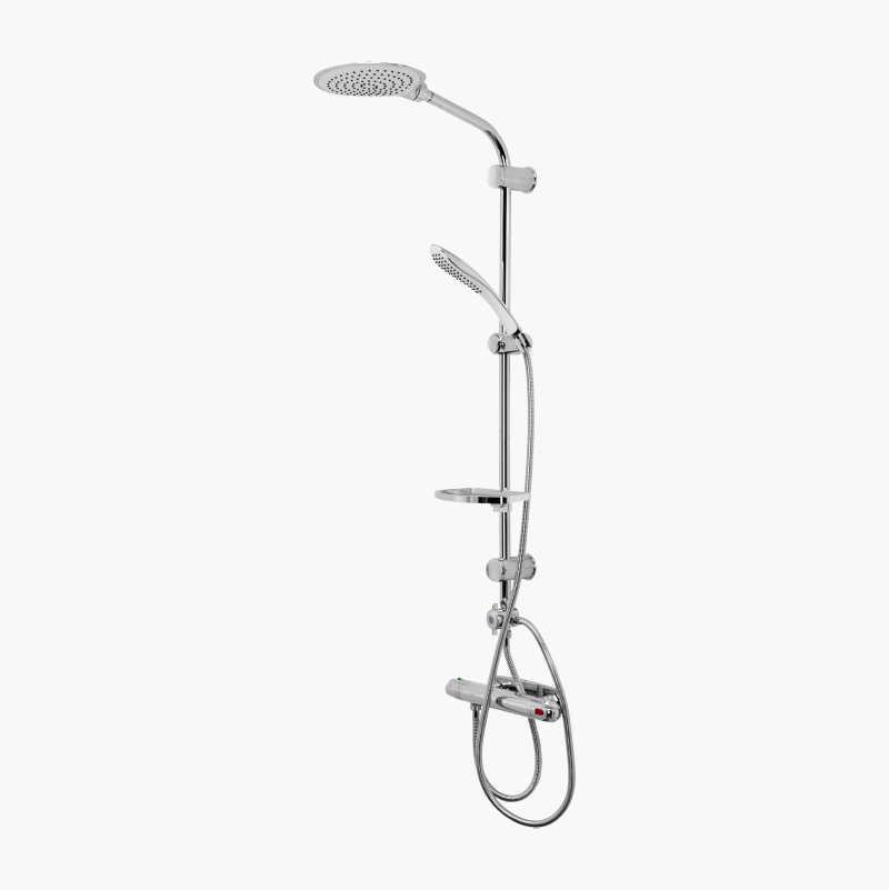 Shower set duo, white/chrome