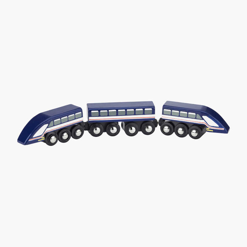 Wooden High-Speed Train Set