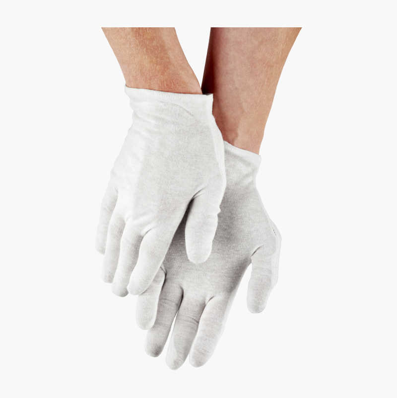 Cotton gloves, 6 pairs
