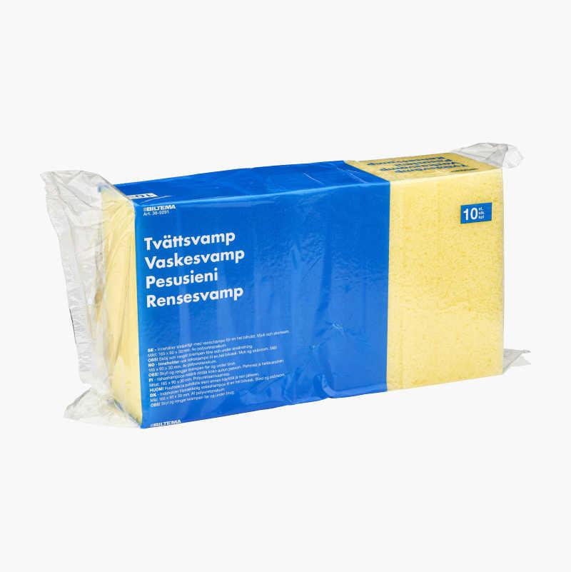 Washing sponge with wax shampoo, 10 pcs