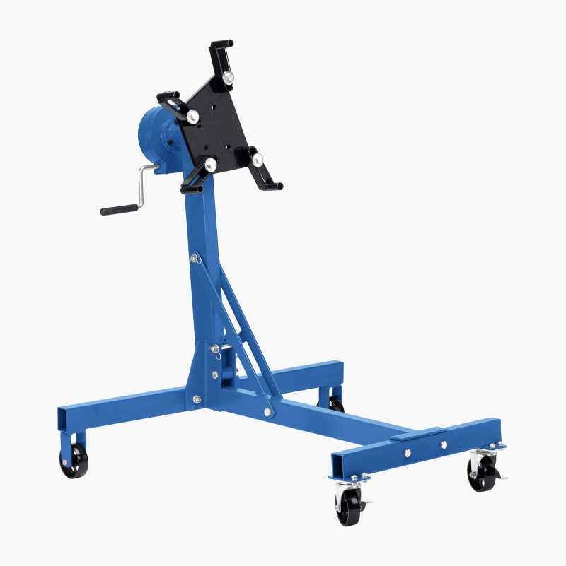 Engine trolley stand with worm drive