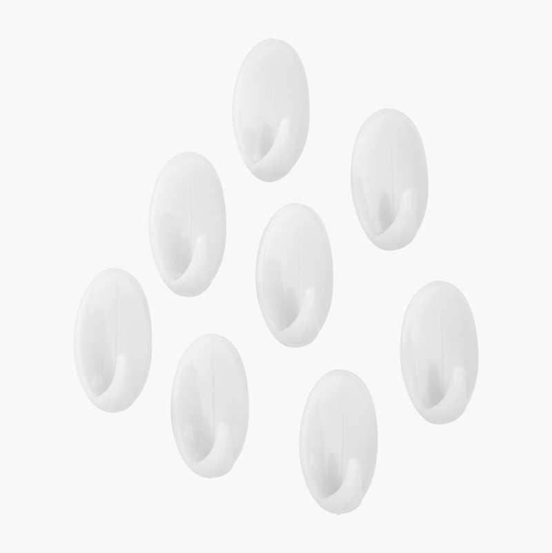 Self-adhesive Mini-Hooks, 8-pack