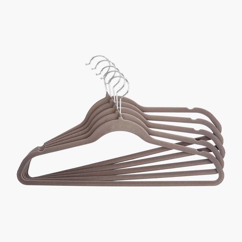 Hanger, velvet, 5-pack