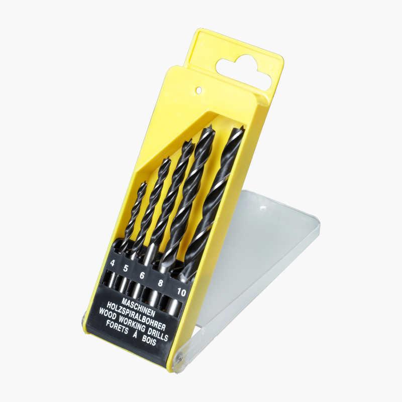 Wood Drill Bits, 5 bits