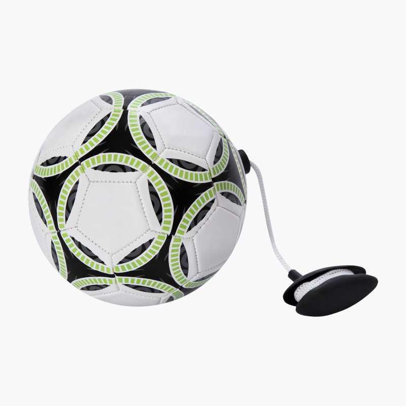Mini football on a rope