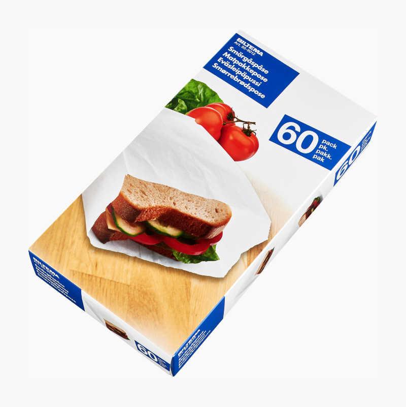 Smörgåspåse, 60 st.