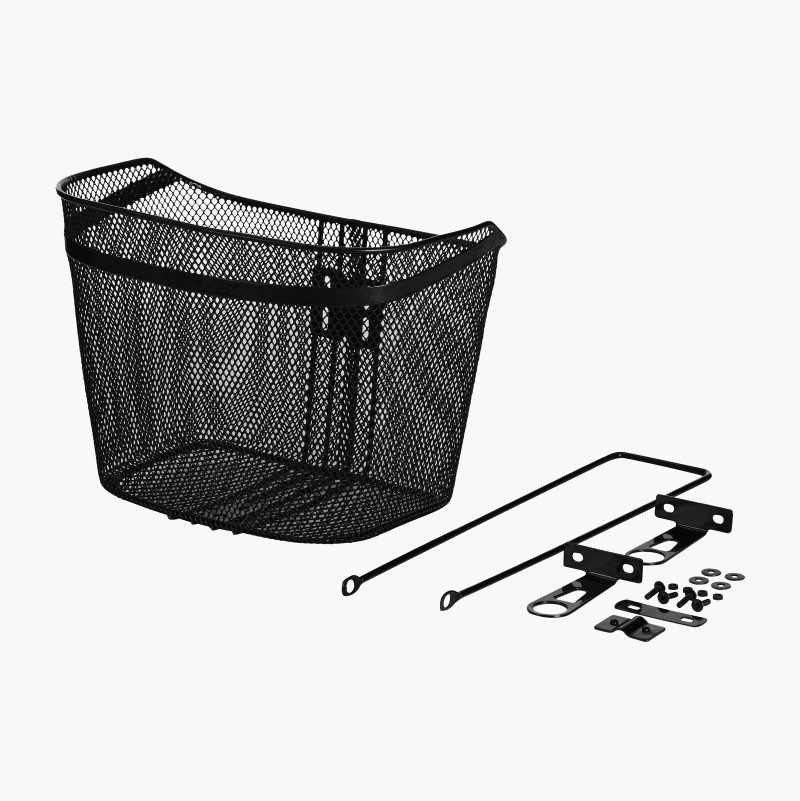 Cycle basket with bracket