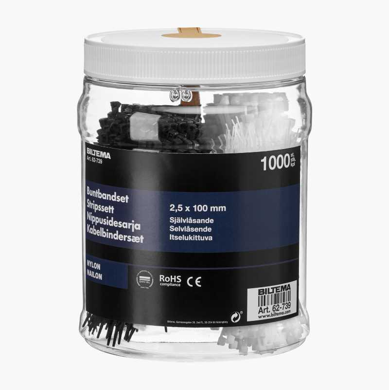 Cable Tie Set, 1000-pack