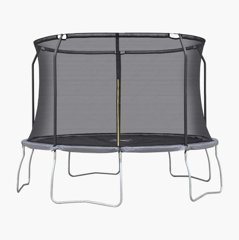 Trampoline med beskyttelsesnett