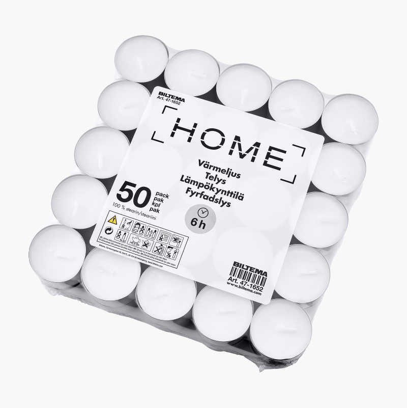 Tealights, 50-pack