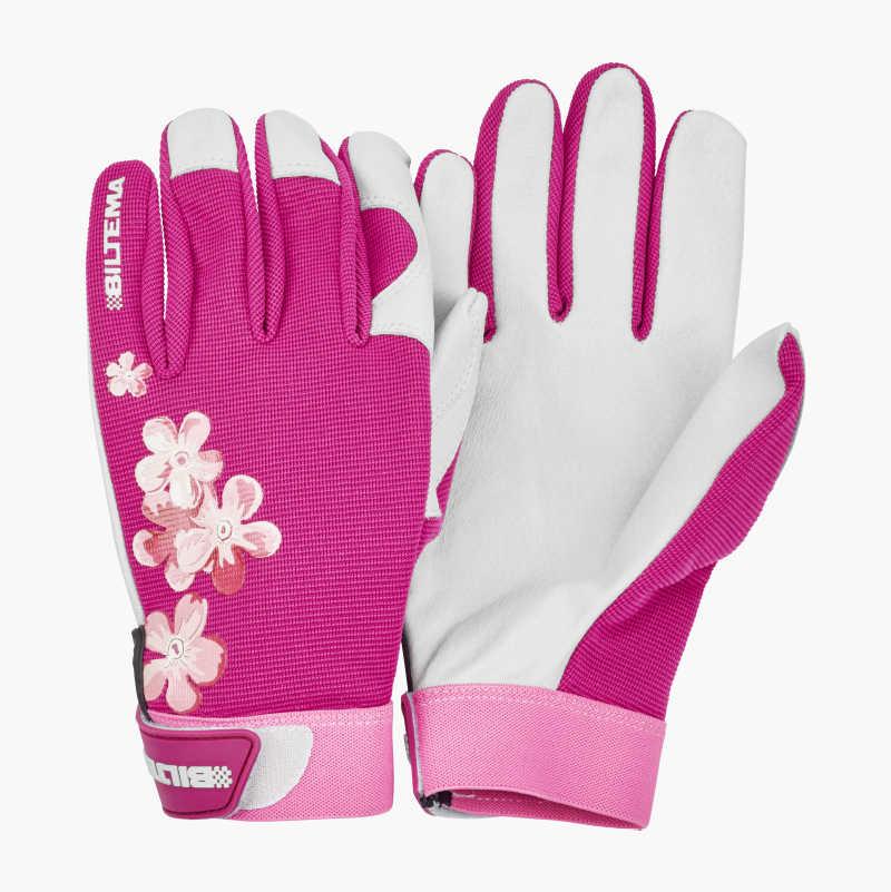 Leather Work Gloves gardening 435