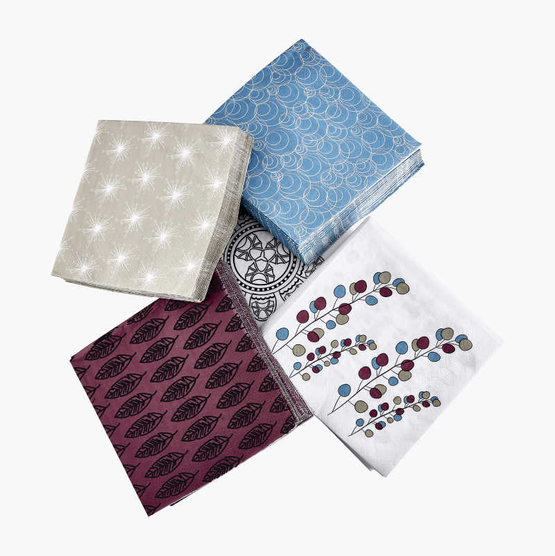 Paper Serviettes, patterned, 20-pack