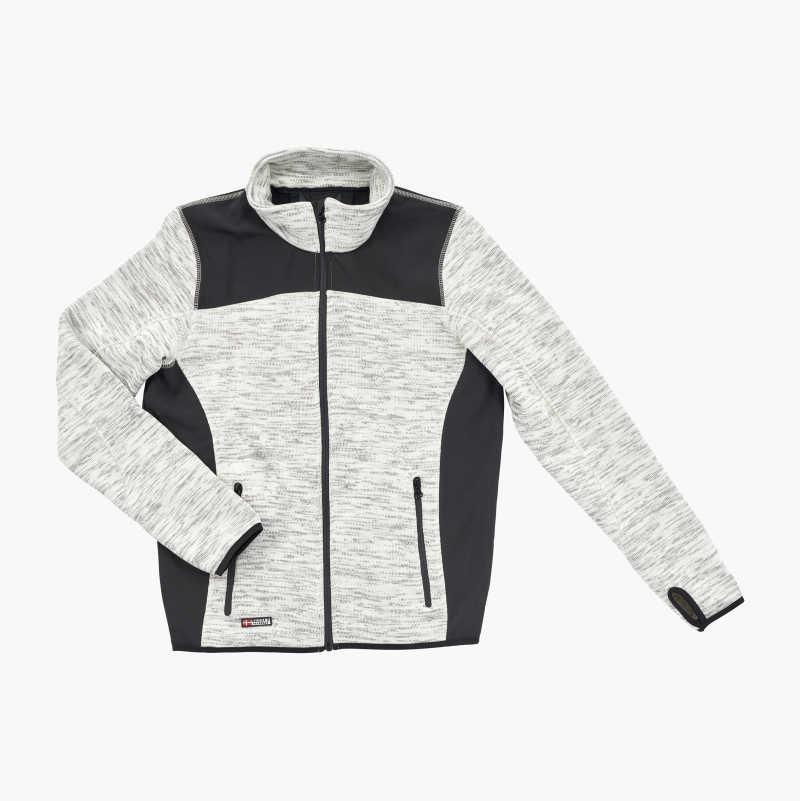 Knitted Fleece Jacket, grey/black