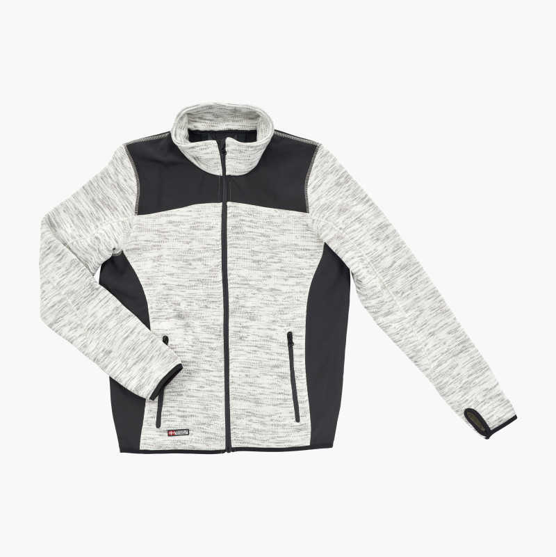 Knitted Fleece Jacket, grey/black