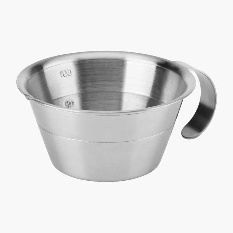 Stainless measuring vessel