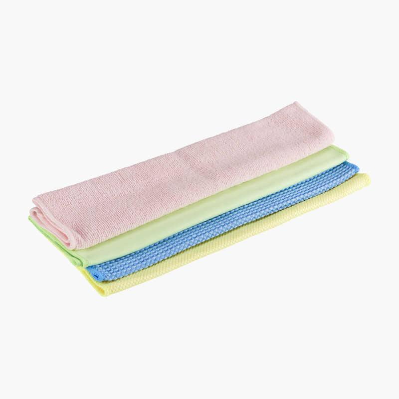 Microfibre Cloths, 4-pack