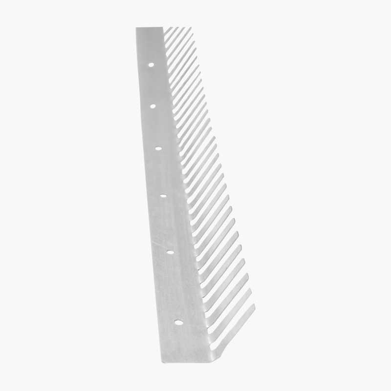 Musestopp av galvanisert stål, 0,5 x 45 x 1250 mm