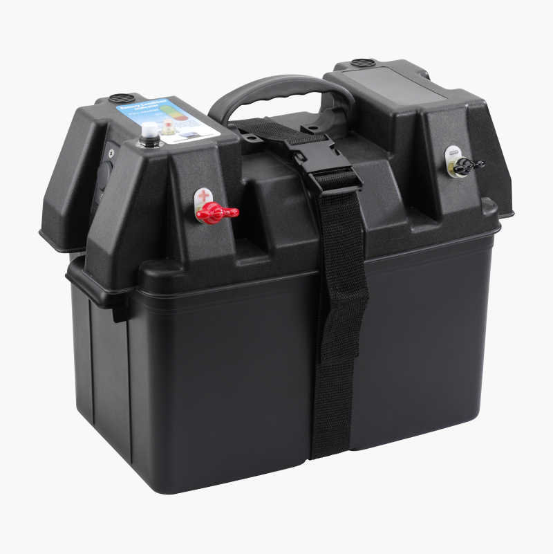 Battery box with electronics