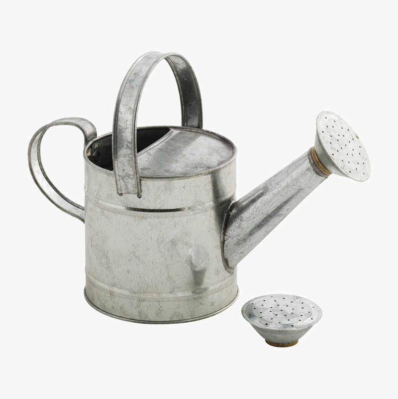 Galvanised watering can 1 L