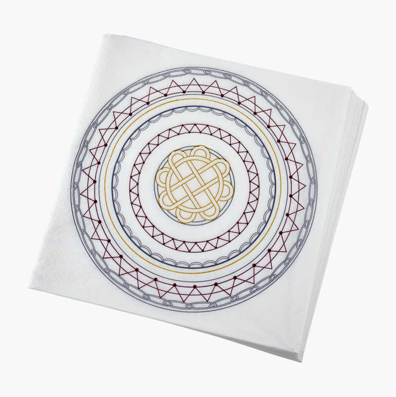 Paperilautasliina, kuvioitu, 20 kpl
