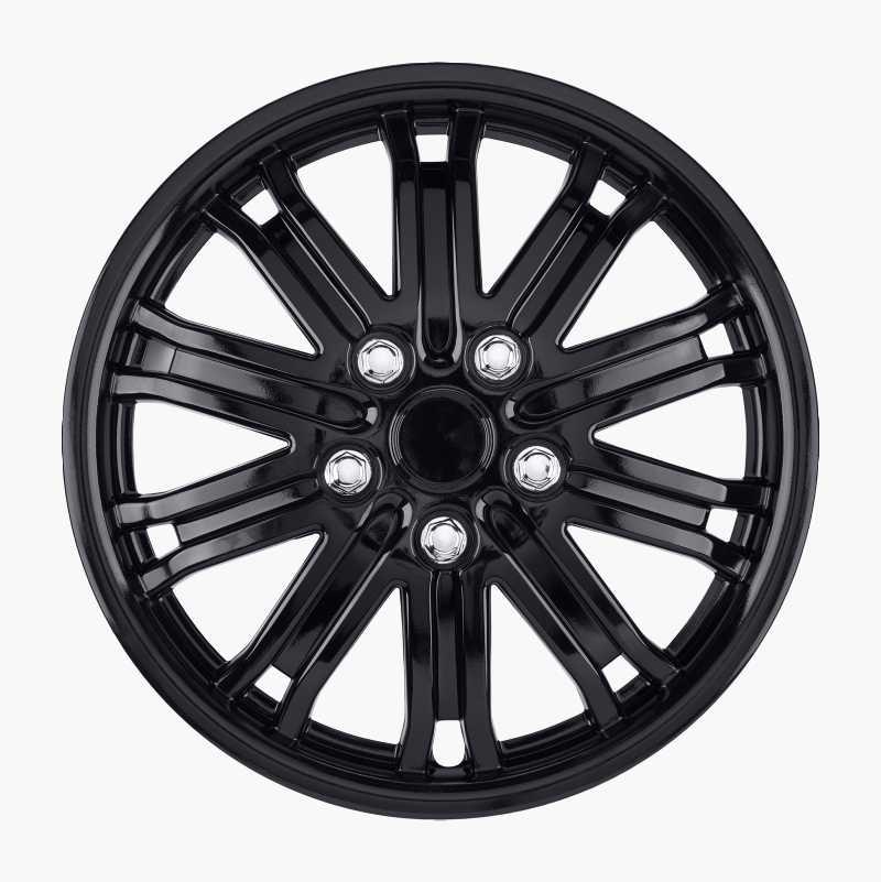 Hjulsidor Gloss Black, 4 st.