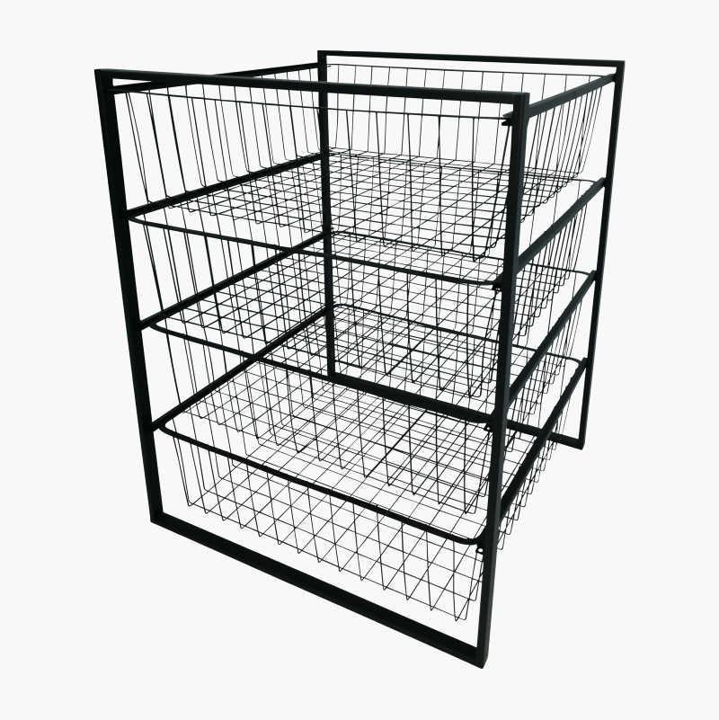 Wire Basket with Stand, 55 cm