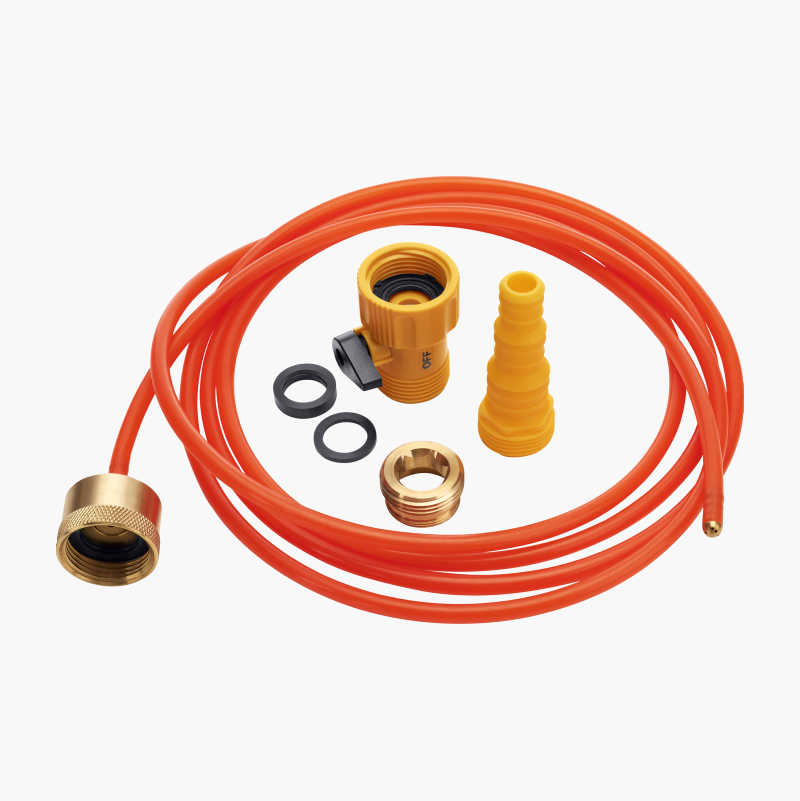 Flush hose with jet nozzle
