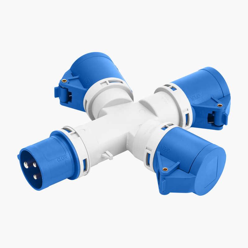 CEE 3-way multi-socket