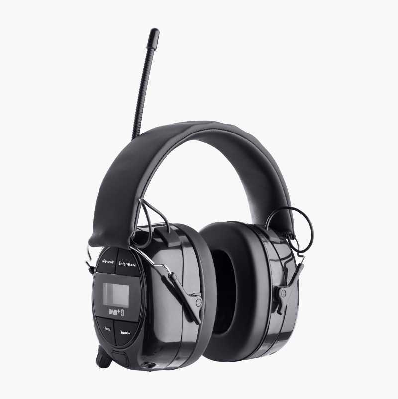 Hörselskydd med Bluetooth/FM/DAB+radio/AUX